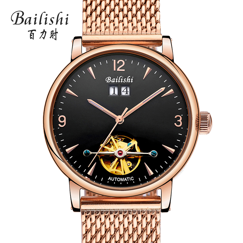 Bailishi High Quality Tourbillon Men Watches Top Brand Luxury Business Waterproof Watches Men Automatic Mechanical Wrist Watches