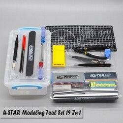 UStar-Kit d'outils pour fabriquer des modèles, accessoires pour Gundam Tamiya, modèle trompeter, outils de construction, accessoires à outils de coupe passe-temps, UA90067