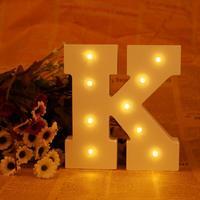New ledertek Trong Nhà Lãng Mạn Lettre Lumineu TƯỜNG Night Đèn Trắng Thư gỗ K LED Marquee Đăng Bảng Chữ Cái ÁNH SÁNG UP Night ánh sáng