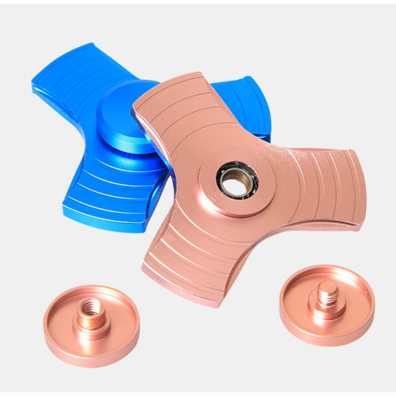 5 Colors EDC Fidget Spinner UFO Tri-spinner Zinc Hand Spinner Aluminum Alloy Fidget Toy Anxiety Stress Adults Kid Metal Spinner