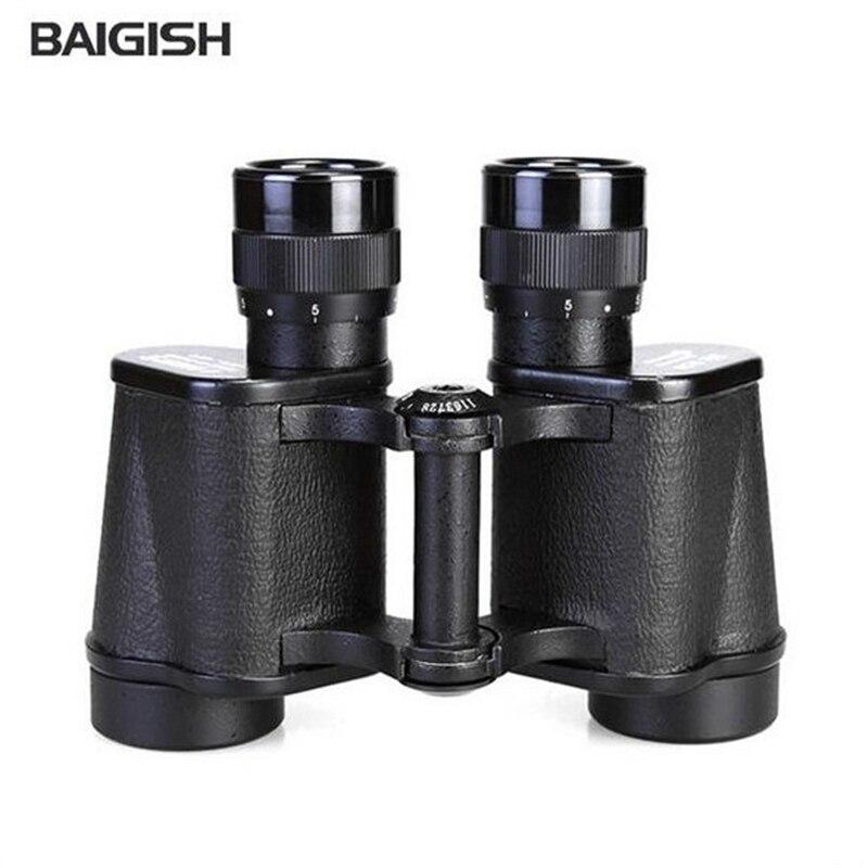 BAIGiSH Teleskop 8x30 Russian Hd Wide Angle Binoculars Rangefinder Telescope Metal Frame Professional Military Camping Sports