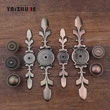 Античная бронзовая ручка для кухонного шкафа, ручки для ящиков, комод, шкаф для одежды, Мебельная ручка, деревянная коробка, ретро ручки для ювелирных изделий