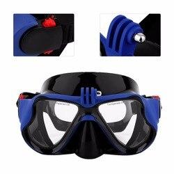 Dropship profissional câmera subaquática mergulho máscara snorkel natação óculos de proteção para xiaomi sjcam esportes câmera