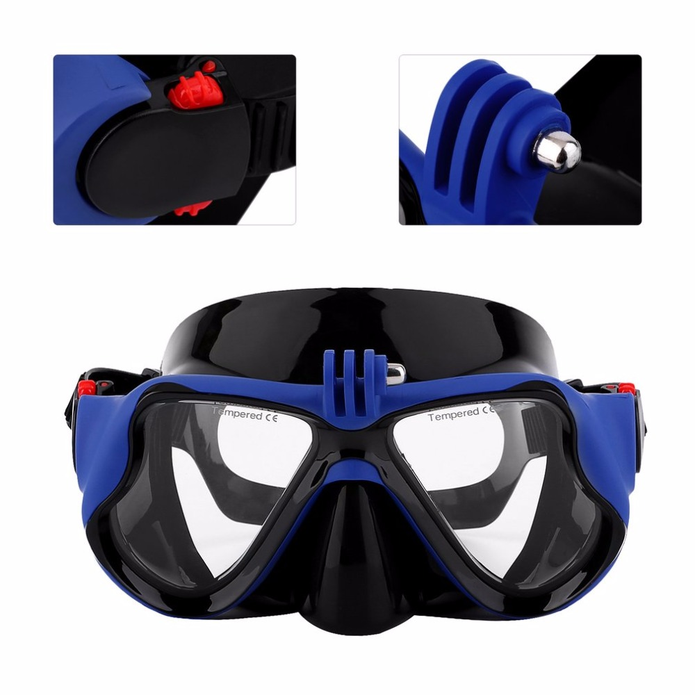 Hot Dropship Professional Underwater Camera Diving Mask Scuba Snorkel Swimming Goggles for GoPro Xiaomi SJCAM Sports Camera 2
