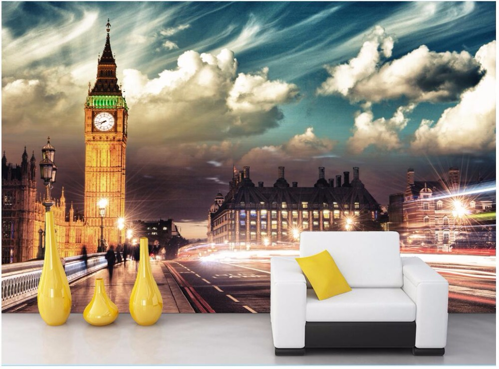 Custom mural photo 3d wallpaper Big Ben in the city of London decoration painting 3d wall murals wallpaper for walls 3 d a woman kneeling in the big city