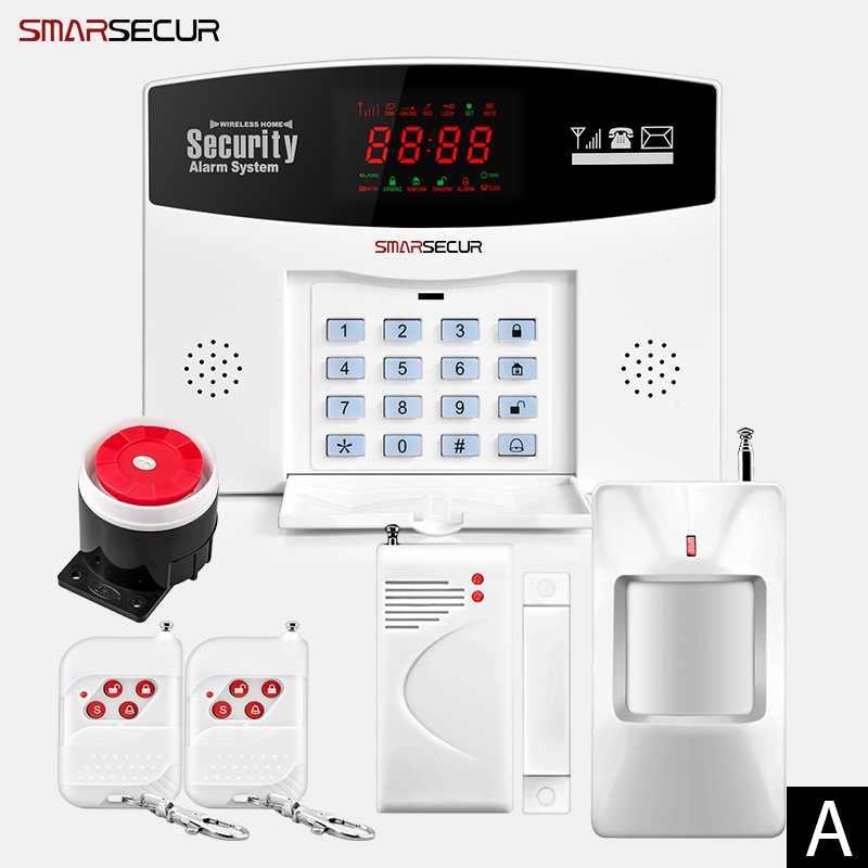 Alarme intelligente IOS Android APP contrôle sans fil sécurité à domicile GSM système d'alarme interphone télécommande Autodial sirène capteur Kit