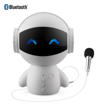 Mini Cartoon Robot Bluetooth Speakers 5W Wireless Receiver Speaker Stereo Music Player Support Karook TV TF AUX And Power Bank
