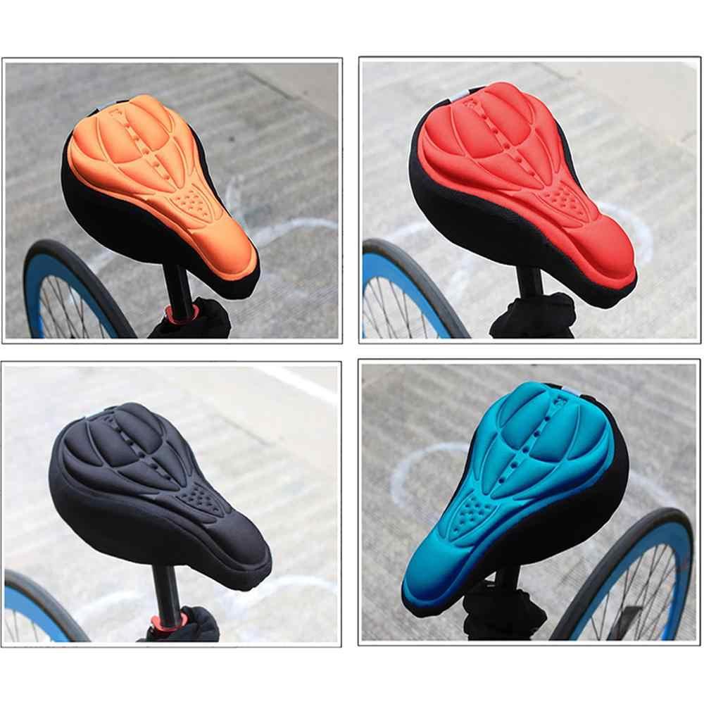 จักรยานเสือภูเขา 3D เบาะรองนั่งเบาะจักรยานจักรยานซิลิโคนหนาเบาะนุ่มอานอุปกรณ์อุปกรณ์เสริม seat