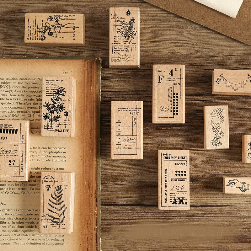"waterfall rubberstamp inc Wood Mounted Rubber Stamp 2 1//2 x 3 1//2/""  Free Ship"
