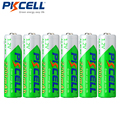 6 x PKCELL AA NiMH Recarregavel Bateria Durable Low Self-discharge 1.2V 2200mAh 2A Ni-MH Rechargeable Battery Batteries Bateria