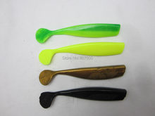 BassLegend - 5 pcs Fishing Super Soft Silicone Lures Bass Pike Trout Baits Swimbait Shad Grub Worm 100mm 11g(China)