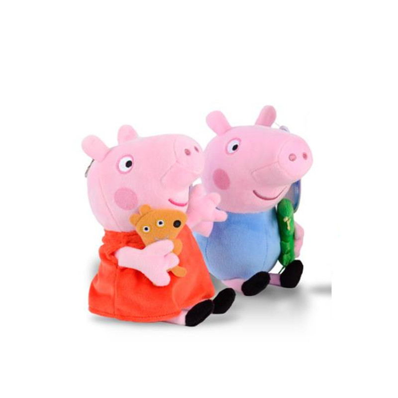 25 CM Anime Peppa Pig George Peppa Family Plush Toys Baby Pet Doll Soft Stuffed Toys Birthday Gifts For Children 4