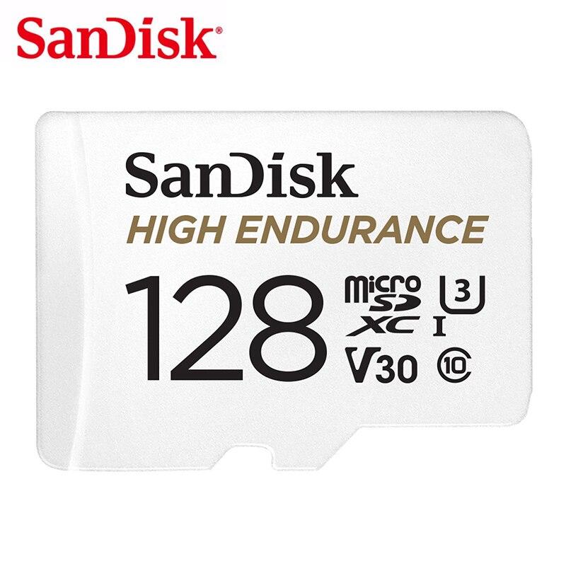 SanDisk 64GB MicroSD Memory Card 32GB TF Card 128GB Monitoring Card C10 U3 V30 High Endurance Full HD Video For Dash Cam 100MB/s