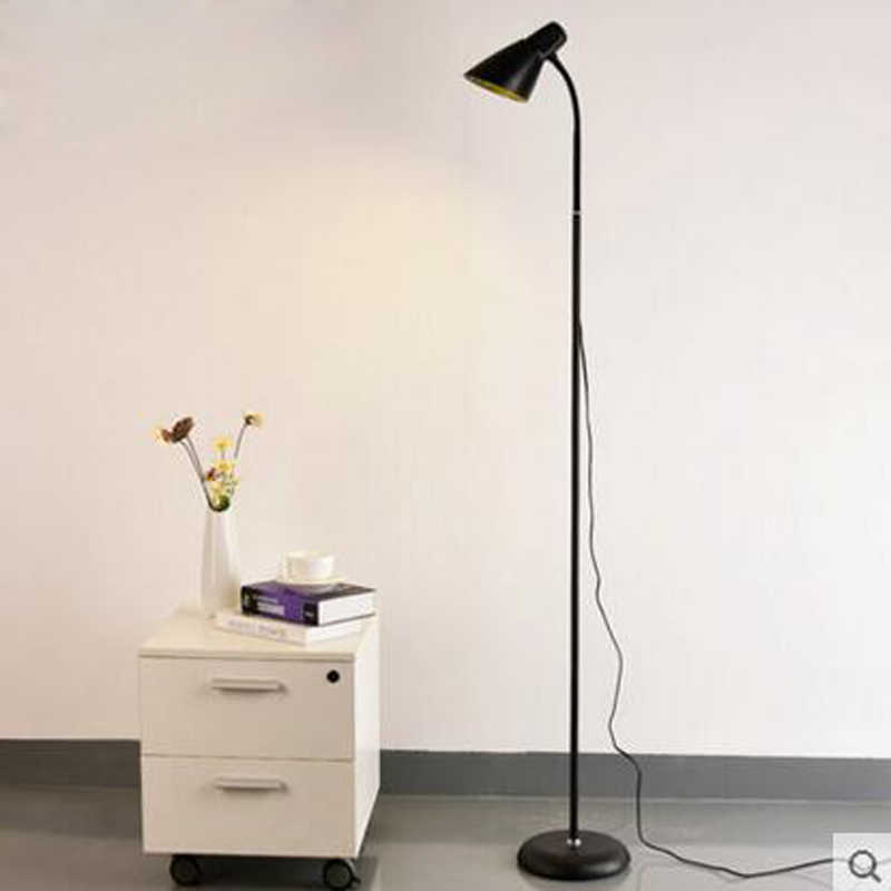 Нордическая простая напольная лампа Современная гостиная диван Напольная Лампа для спальной Кабинета вертикальная Настольная Лампа Домашнее светодиодное освещение приспособление