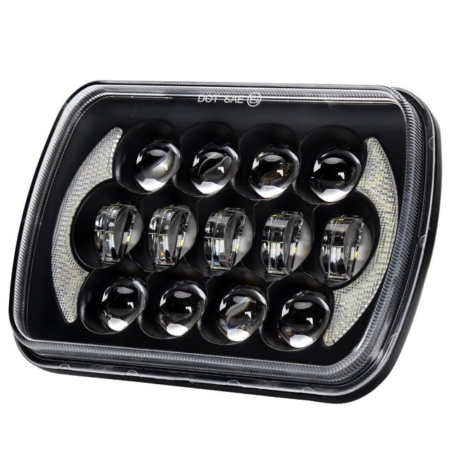 "1PC 5 x 7"" LED Headlight Square Motorcycle Headlamp for Jeep Wrangler YJ Cherokee XJ Comanche MJ upgrade H6014 H6054 H6052 XJ MJ"