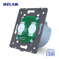 WELAIK Switch White Wall Switch EU Remote Control Touch Switch DIY Parts Screen Wall Light Switch