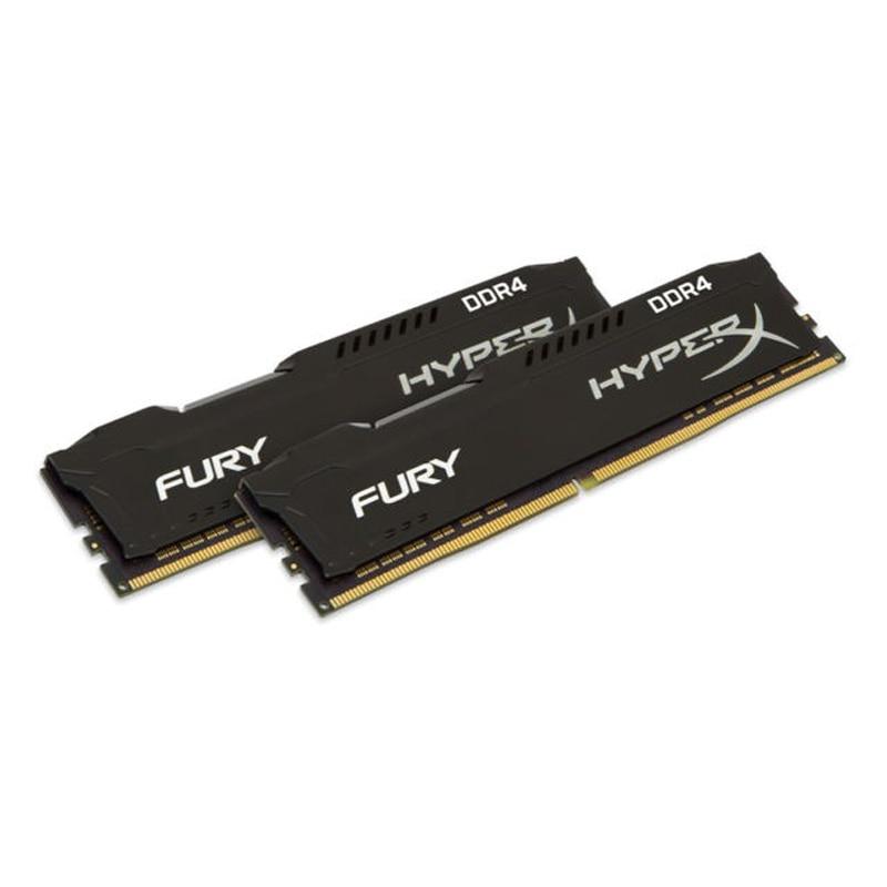Mémoire HyperX FURY noir 8 go DDR4 2133 MHz Kit, 8 go, 2x4 go, DDR4, 2133 MHz, DIMM 288 broches, nègre