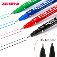10Pcs Dual Tip 0.7/1.8mm Fast Dry Permanent Sign Marker Pen Brush Drawing Fineliner Office School Stationery MO-120-MC