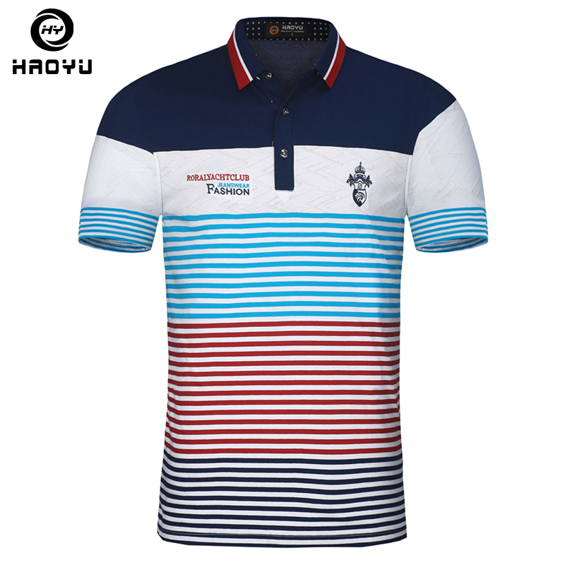 New Arrival Cotton Mens Polo Shirt Brands Clothing Short Sleeves with  Letter Logo Famous Brand Slim Summer Style Polo 2018 6a6b24e52a69