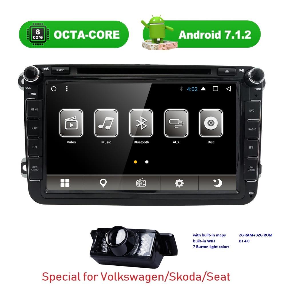 Autoradio 2 Din Android 7 1 Car Dvd Player For Volkswagen Vw Passat