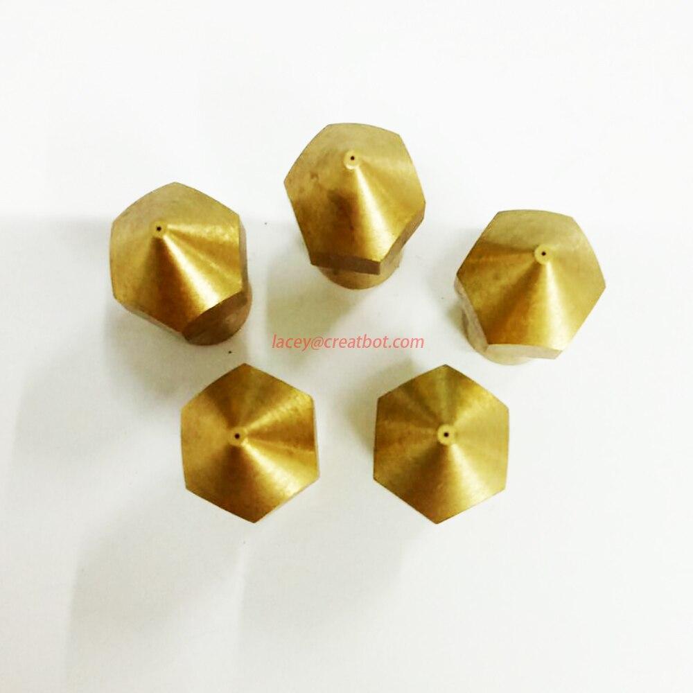 0.2mm Brass Nozzle Original CreatBot Printer Parts Long extruder head Accessory for sale ( 5 pcs/ lot)