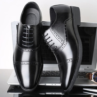 SHANZU Men Dress Shoes Simple Style Quality Men Oxford Shoes Lace up Brand Men Formal Shoes Men Leather Wedding Shoes 637