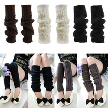 Women Ladies Winter Spring Knit Crochet Leg Warmers boots Knee Trim Boot Legging Warmer Solid Color Body Warmer polainas цена 2017