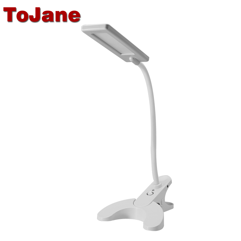 ToJane TG912 Led Reading Lamp 3-Level Brightness&Color Desk Lamp 8W Led Table Lamp Light super bright led desk lamp 15w slide control metal table lamp 6 level brightness 6 color modes adjustable reading lights