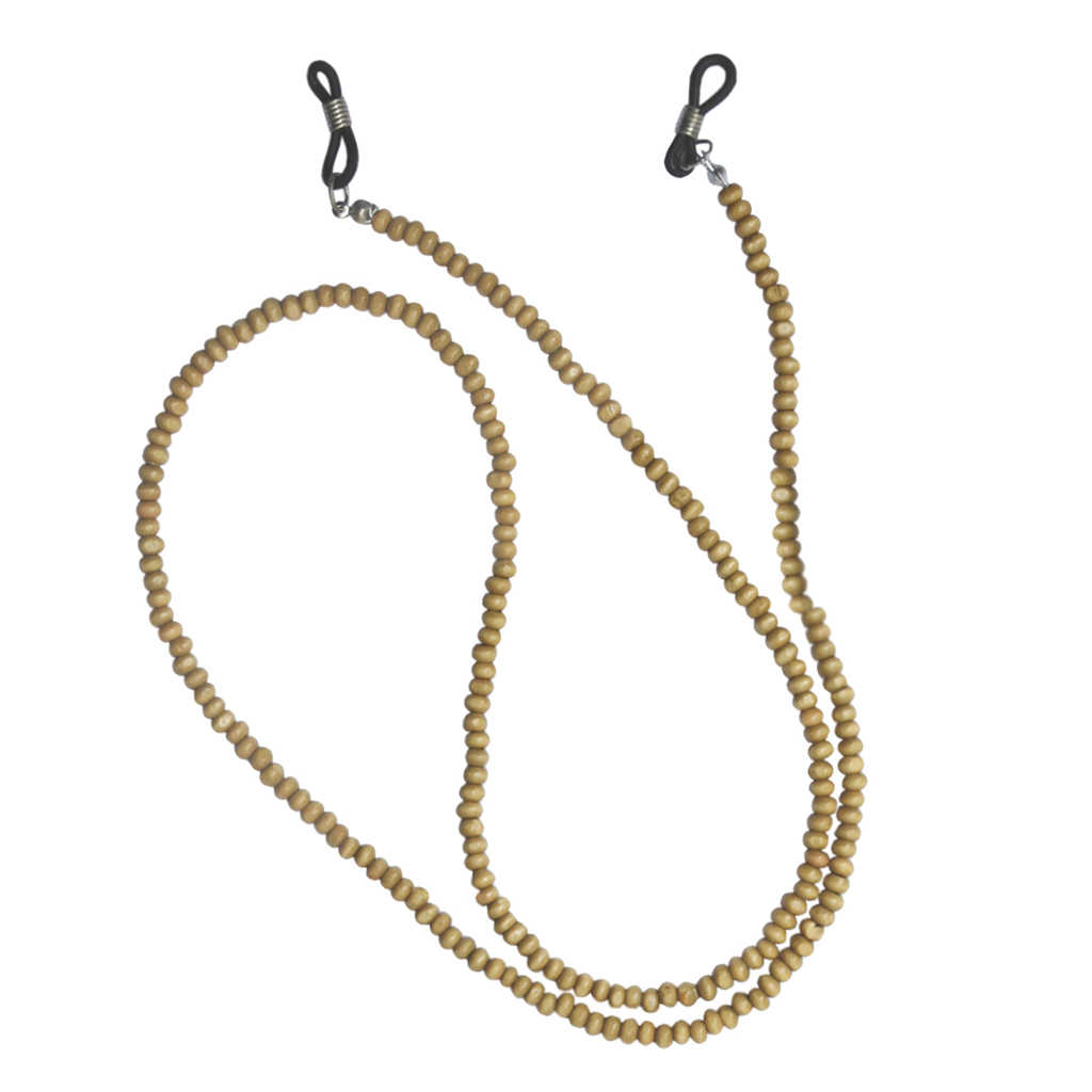 71cm Lightweight Wooden Beads Eyeglasses Chain Cord Sunglasses Holder Glasses Strap Lanyard Necklace Cord  for Women Men