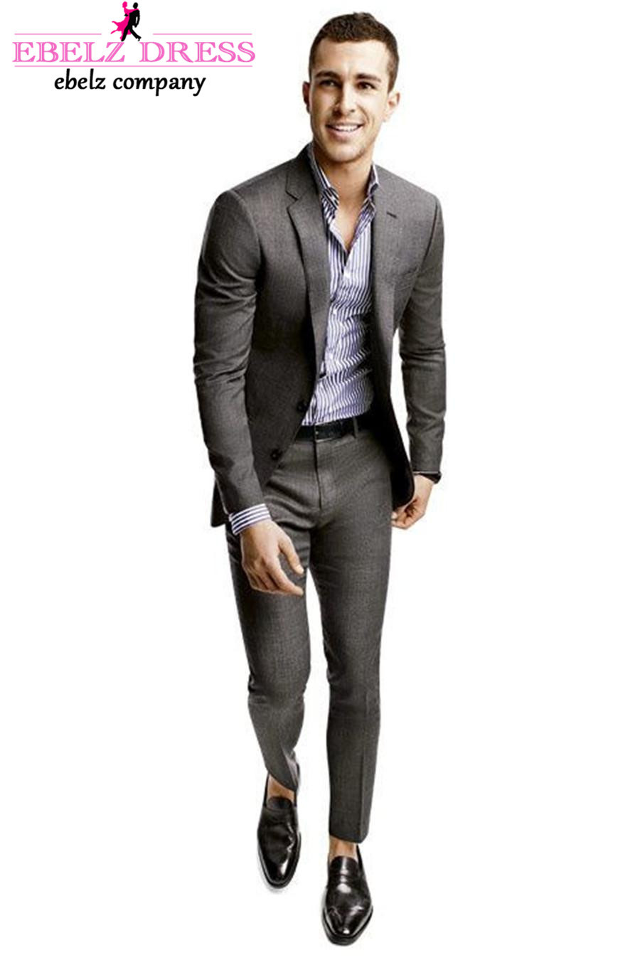 2015 Summer Suit Skinny Dark Grey Classic Tailor Pants With Fit ...