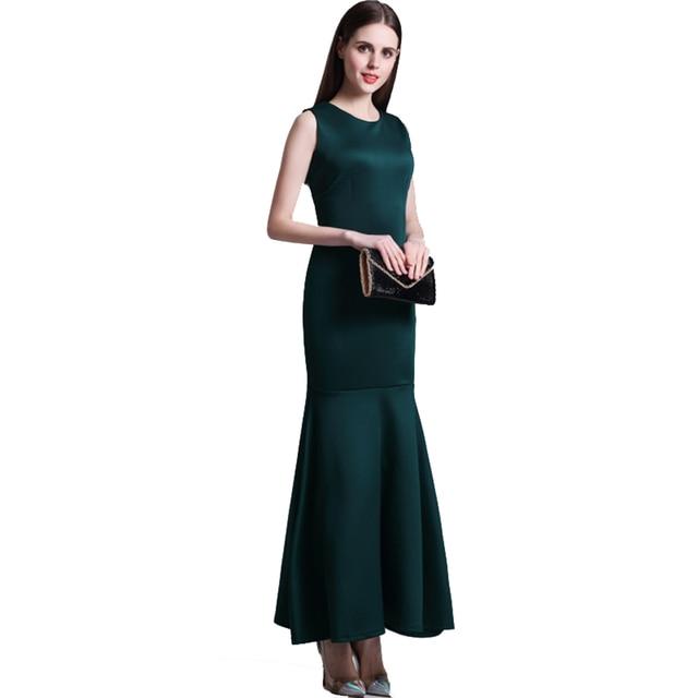 Hot Fish Tail Style S Xl Quality Las Elegant Dress Women Long Ankle Length