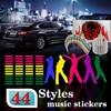 45 11CM Music Rhythm Led EL Sheet Light Lamp Sound Equalizer Red Green Yellow Blue Purple