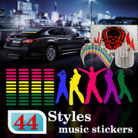 45 11CM Music Rhythm Led EL Sheet Light Lamp Sound Equalizer Red Green Yellow Blue Purple