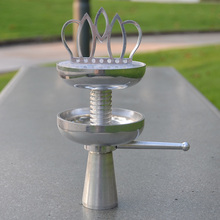 Luxury Shisha Hookah Crown Head Bowl Charcoal Holder Burner Water Smok