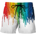 Hipster Oil Painting Print 3D <font><b>Board</b></font> <font><b>Shorts</b></font> Men Loose Beach <font><b>Shorts</b></font> 2018 Summer Colorful Pants Boys Lace up Trousers Harajuku 5XL