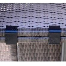 Patio Muebles De Mimbre Sofá de la Rota Silla de Alineación Sujetadores de Clip Antideslizante Seccional Conector, conjunto de 6