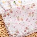 10Pcs/Set Double Layers Towel Baby Cotton Gauze Kerchief Cartoon Slobber Scarf Infant Bath Towel Handkerchief  Wholesale 26*26cm