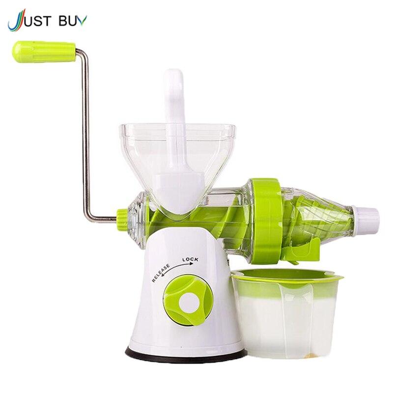 ФОТО ice cream machine & slow juicer Fruit Vegetable Tools Plastic Multifuctional Fruit Squeezer hand juicer machine