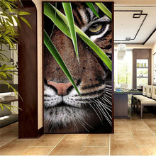 Large size picture Domineering tiger diamond Embroidery diy painting 3d cross stitch pictures H493