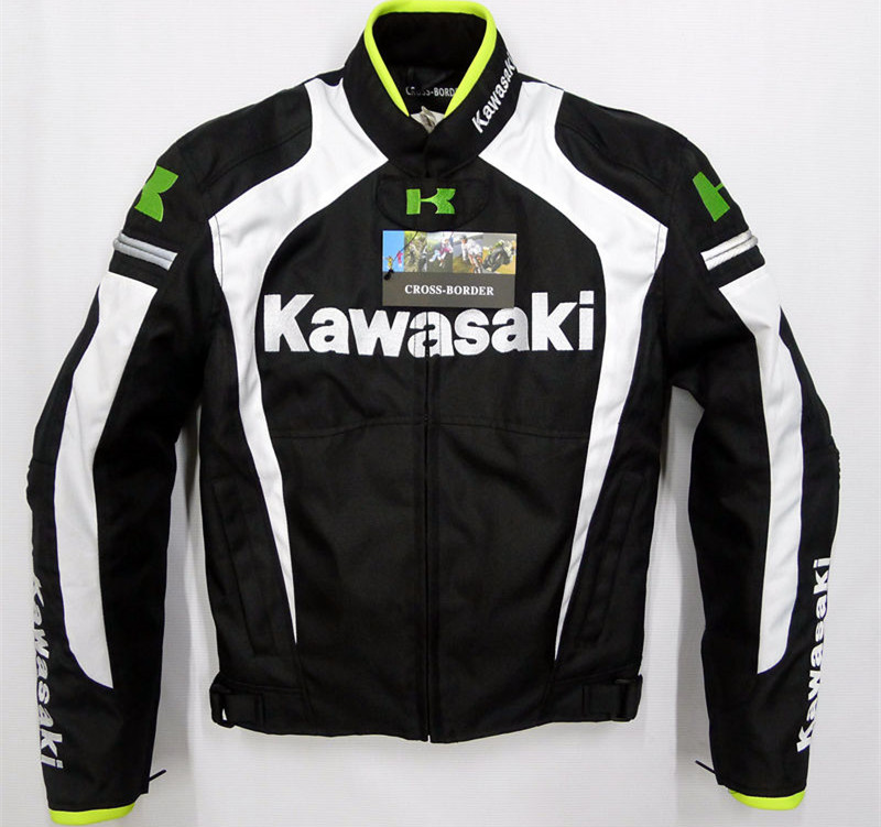 Men's Winter Motorcycle Jacket For Kawasaki Team Green Professional Protectors Jacket Automobile Motorcycle Racing Jackets цена