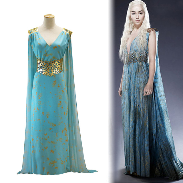 Game of Thrones Daenerys Targaryen Dress Costume
