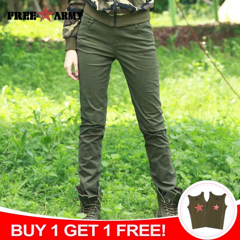 FREE ARMY Fashion High Waist Pants Women Plain Slim Pants Spandex Women's Casual Pants Camo Trousers Female Spring Pencil Pants|pantalon femme|women casual pantsfashion pants women - AliExpress