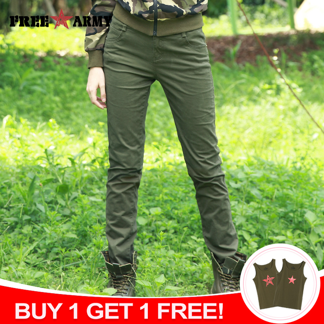 FREE ARMY Fashion High-Waist Pants Women Plain Slim Pants Spandex Women's Casual Pants Camo Trousers Female Spring Pencil Pants