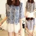 Бесплатная доставка весной 2014 года новое платье хан издание платье подшивание полоса оптовая продажа ложные 2 типа куклы рубашка