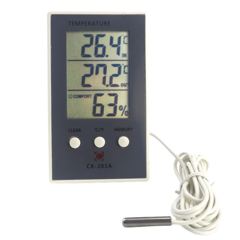 New LCD Digital Thermometer Hygrometer In/Out Temperature Meter Indoor Humidity Meter with Temperature Sensor car thermometer indoor thermometer thermal camera humidity u0026 temperature meter gm1360
