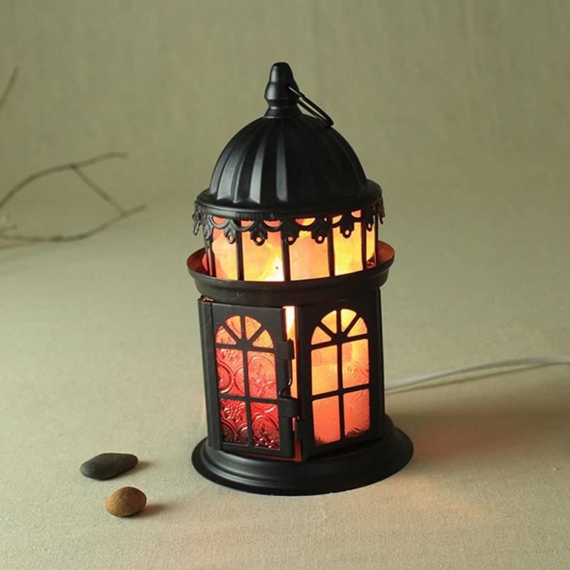 Resin Himalayan Crystal Salt Lamp Bedroom Adornment Night Light US Plug
