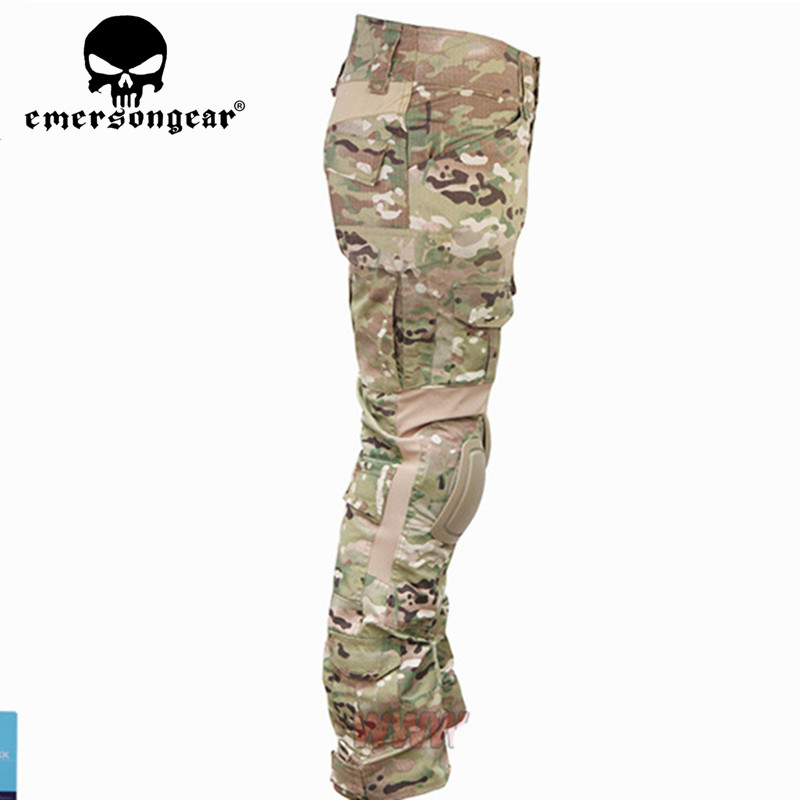 Emerson  Tactical version Combat Pants Airsoft combat uniform Knee Pads Multicam