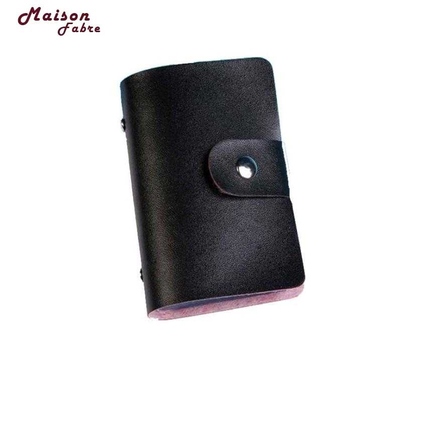 MAFA NEW 2018 Men Women Leather Credit Card Holder Case Card Holder Wallet Business Card dropship m7