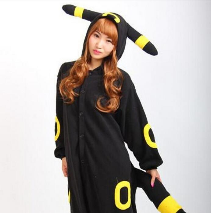 New Anime Pokemon Master Umbreon Cosplay Costumes Onesie Jumpsuit Pyjamas Hot Sale