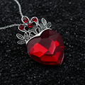 2 pcs Presente do Dia Dos Namorados Colar de Evie Descendentes Coroa Coração Vermelho Colar de Rainha de Copas Traje Fã Mulheres Jóias Pre Adolescente